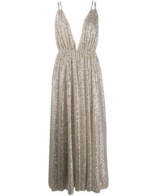 Amen スパンコール ドレス Metallic