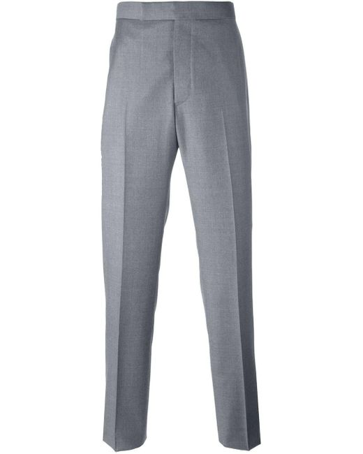 Thom Browne Gray Straight Leg Trousers for men