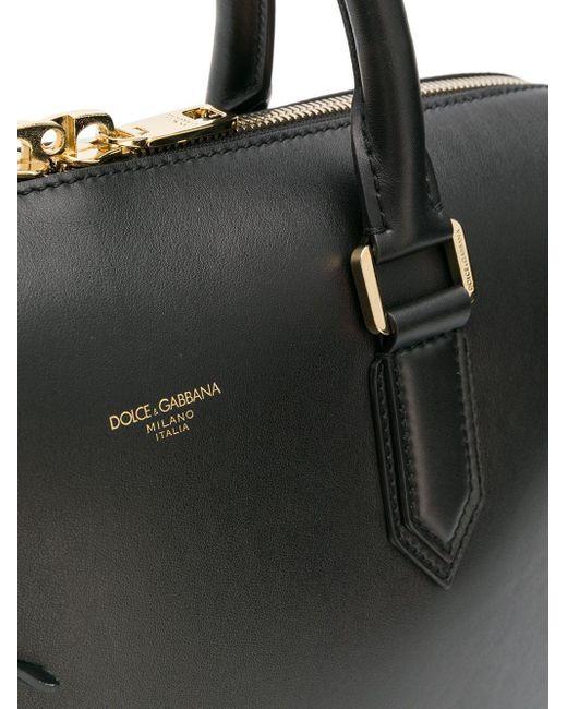 メンズ Dolce & Gabbana レザーブリーフケース Black