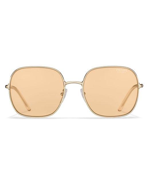 Prada Yellow Decode Square-frame Sunglasses