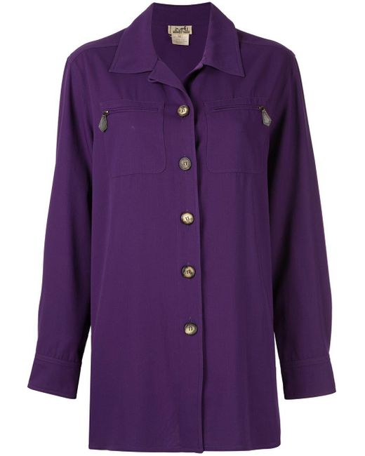Hermès オーバーサイズ シャツ Purple