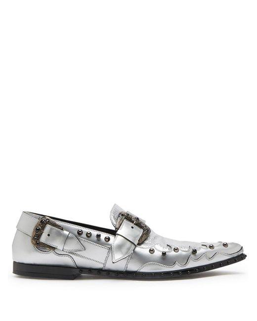 Dolce & Gabbana Metallic-Loafer mit Nieten für Herren