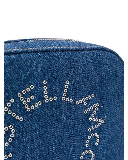 Каркасная Сумка Stella Logo Размера Мини Stella McCartney, цвет: Blue