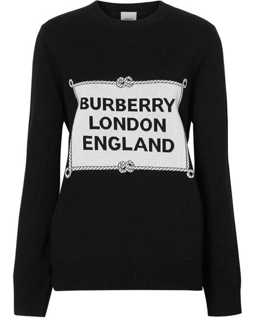 Burberry メリノウールニットセーター Black