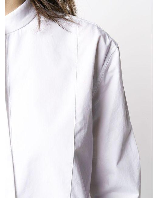 Equipment ラウンドカラー シャツ White