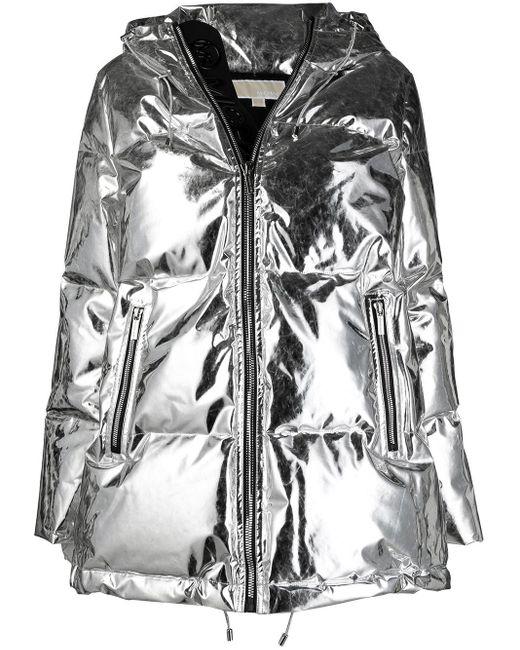 Cappotto lungo metallizzato di MICHAEL Michael Kors in Metallic