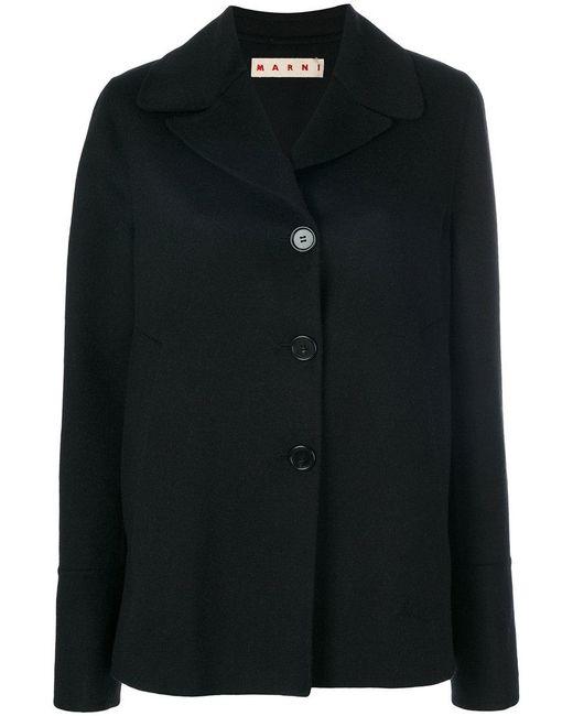 Marni | Black Cashmere Oversized Jacket | Lyst