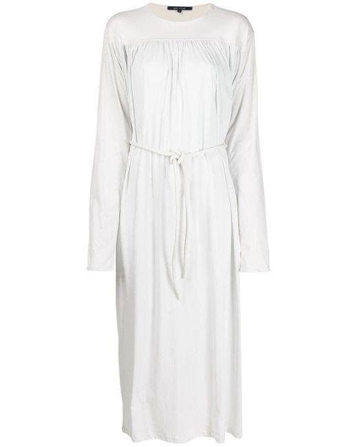 Sofie D'Hoore Vestido midi con diseño fruncido de mujer de color blanco