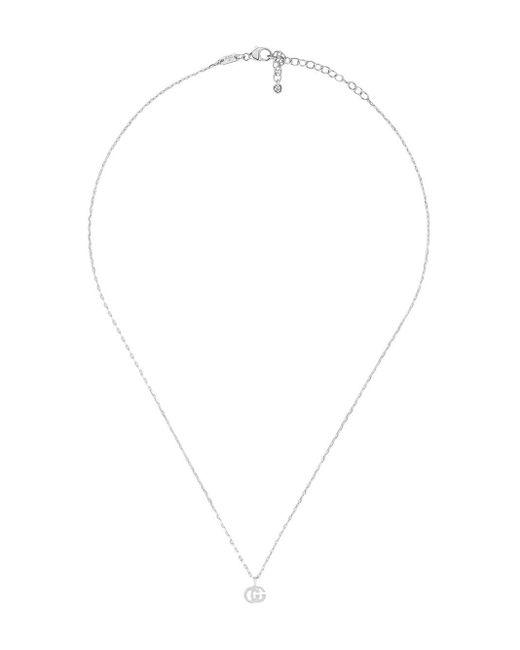 Gucci GGランニング ダイヤモンド ネックレス 18kホワイトゴールド Multicolor