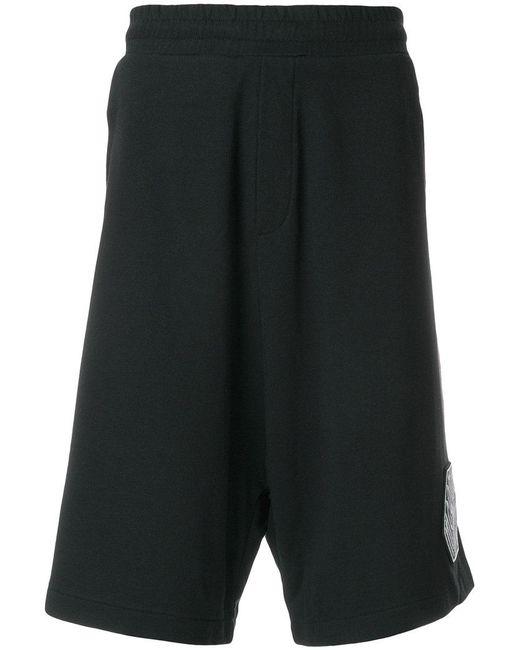 McQ Alexander McQueen - Black Logo Patch Track Shorts for Men - Lyst