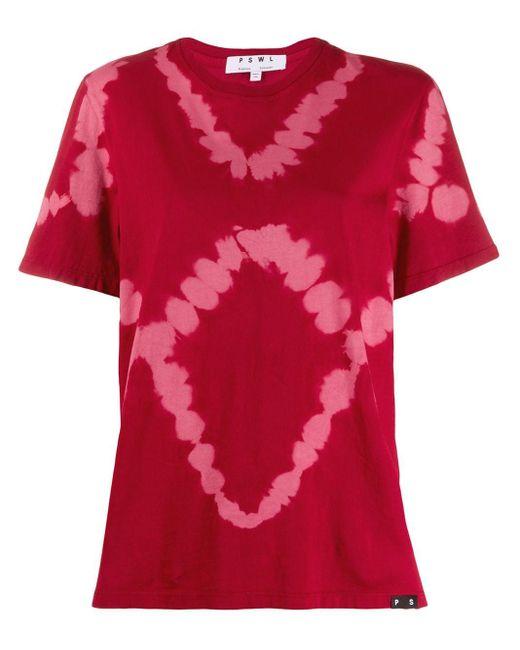 PROENZA SCHOULER WHITE LABEL Pswl タイダイ Tシャツ Red