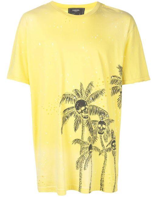 メンズ DOMREBEL Skull Palm Tシャツ Yellow