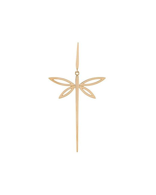 Anapsara - Yellow 18kt Gold Dragonfly Earring - Lyst