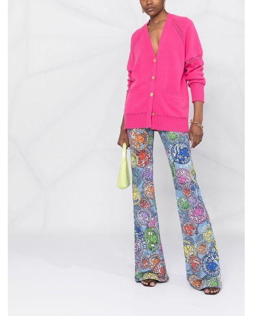 Кардиган Рыхлой Вязки Versace, цвет: Pink