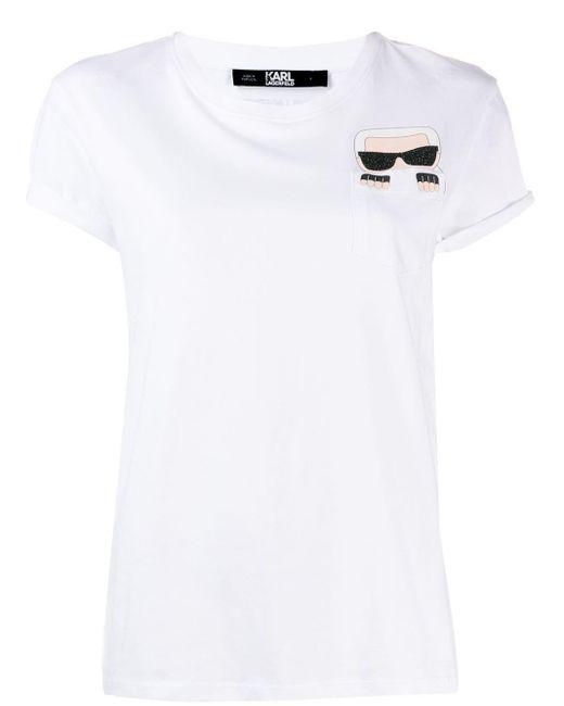 T-shirt Ikonik Karl Karl Lagerfeld en coloris White