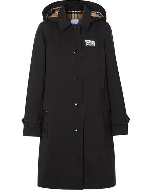 Burberry ブラック Oxclose ピムリコ フード コート Black