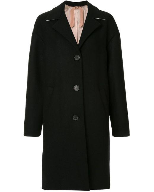 N°21 オーバーサイズ シングルコート Black