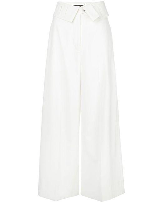 Брюки Широкого Кроя С Подворотом Proenza Schouler, цвет: White