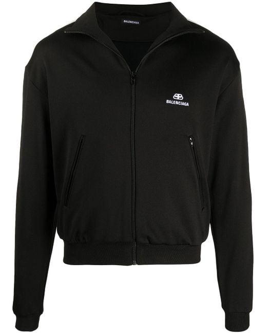 メンズ Balenciaga ロゴ ジップジャケット Black