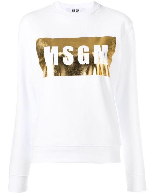 MSGM ロゴ スウェットシャツ Multicolor