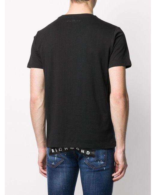 メンズ John Richmond ロゴ Tシャツ Black