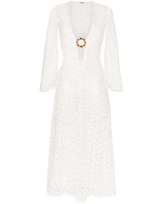 Dodo Bar Or Jane Vネック レースドレス White