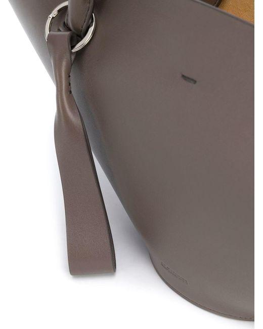 Сумка-ведро Jil Sander, цвет: Brown