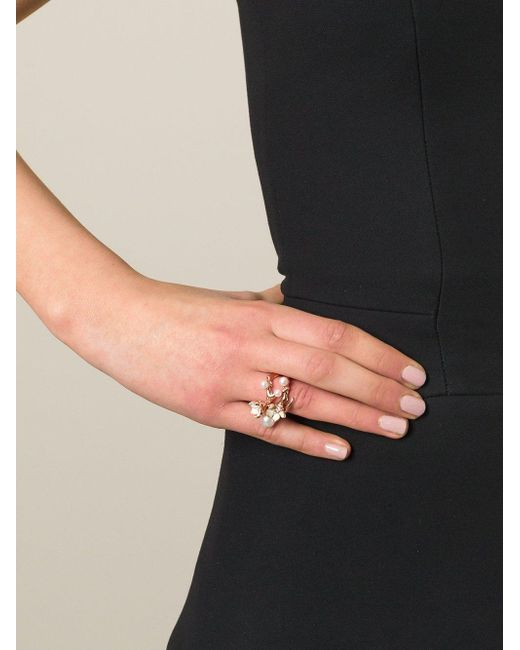 Shaun Leane Metallic Cherry Blossom Diamond Ring