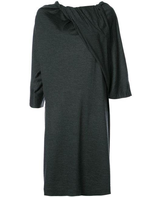 Chalayan - Gray Twisted Neckline Dress - Lyst