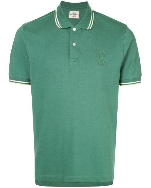 メンズ Kent & Curwen コントラストトリム ポロシャツ Green