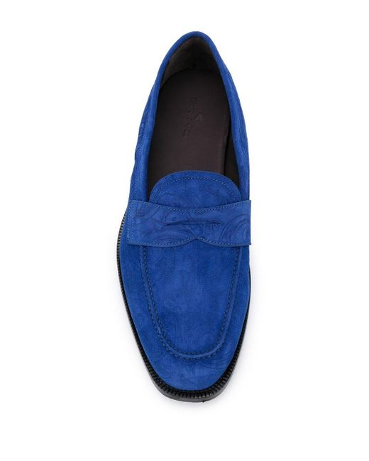 Лоферы С Тиснением Etro для него, цвет: Blue