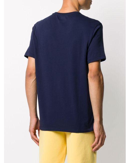 メンズ Polo Ralph Lauren ロゴ Tシャツ Blue