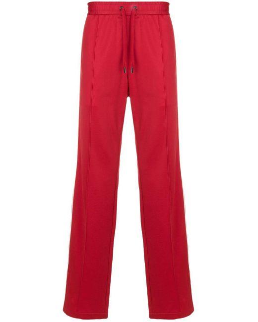 メンズ Versace サイドパネル トラックパンツ Red