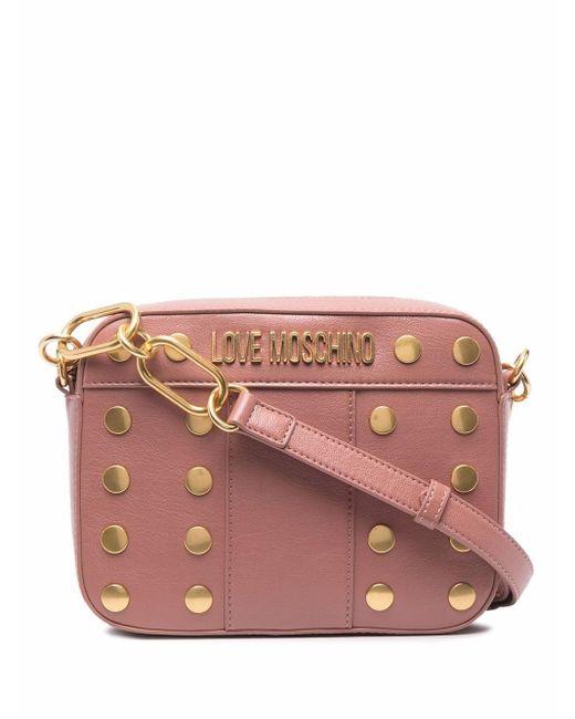 Love Moschino アニマルフリーレザー バッグ Pink