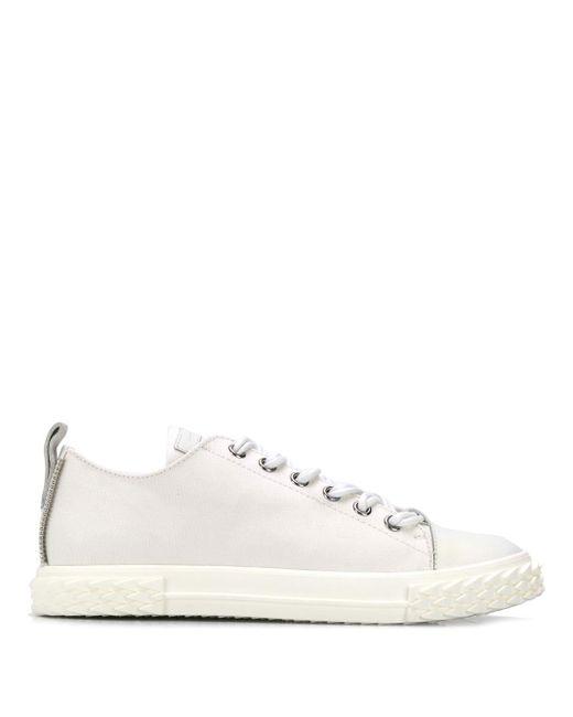 Кроссовки На Шнуровке Giuseppe Zanotti для него, цвет: White