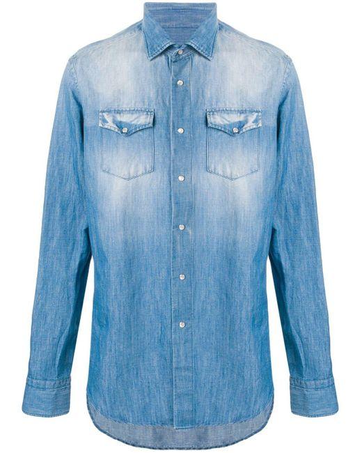 メンズ Dell'Oglio チェストポケット シャツ Blue
