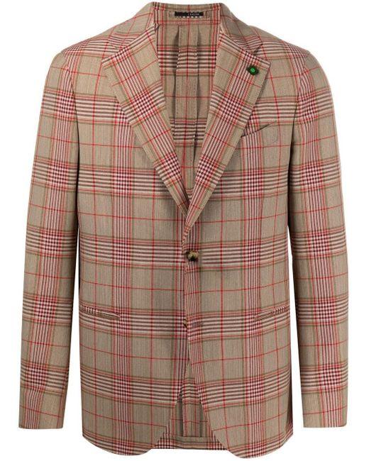 Пиджак В Клетку Глен Lardini для него, цвет: Multicolor