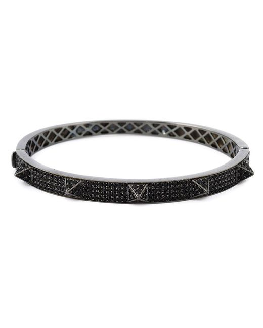 Monan | Black Pyramid Studded Bangle | Lyst