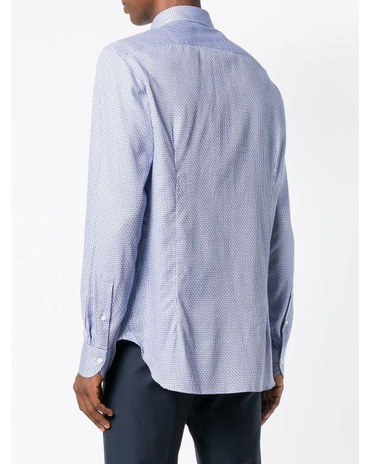 Printed shirt Boglioli pour homme en coloris Blue