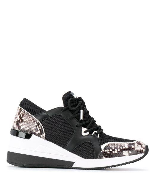 MICHAEL Michael Kors Black Liv Panelled Low-top Sneakers
