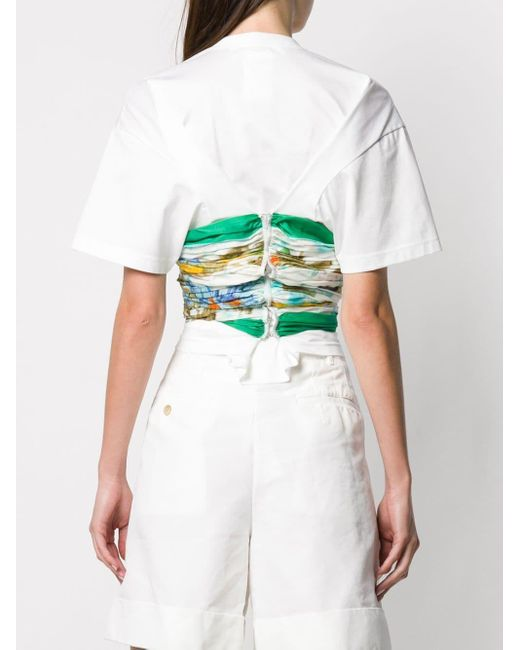 Junya Watanabe プリントパネル Tシャツ White