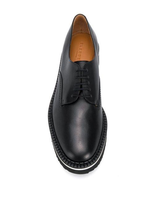 Туфли На Платформе Со Шнуровкой Clergerie, цвет: Black