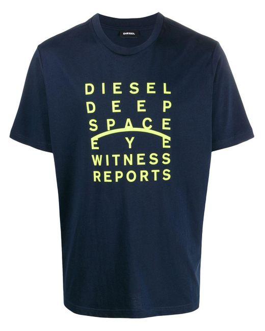 メンズ DIESEL T-just-j5 Tシャツ Blue