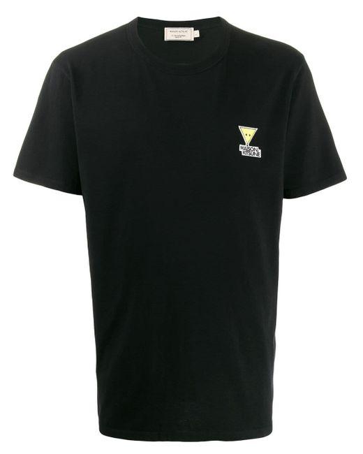 メンズ Maison Kitsuné ロゴ Tシャツ Black