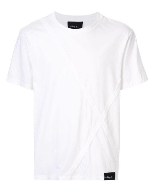 メンズ 3.1 Phillip Lim パッチワーク Tシャツ White