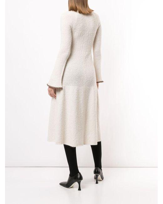 Proenza Schouler ベルスリーブ ニットドレス White