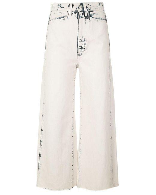 PROENZA SCHOULER WHITE LABEL クロップド ワイドジーンズ White