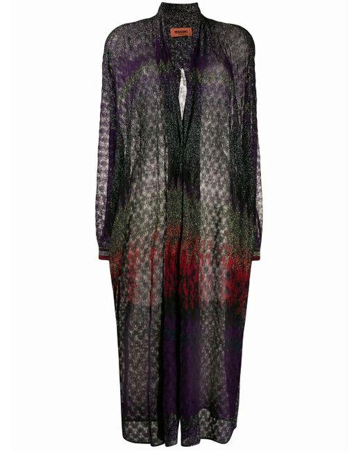 Missoni Purple Cardigan mit Glitzer-Finish
