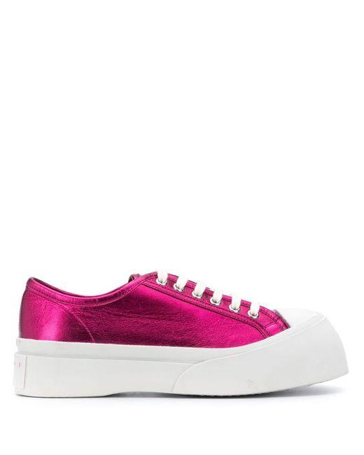 Кеды Pablo На Шнуровке Marni, цвет: Pink