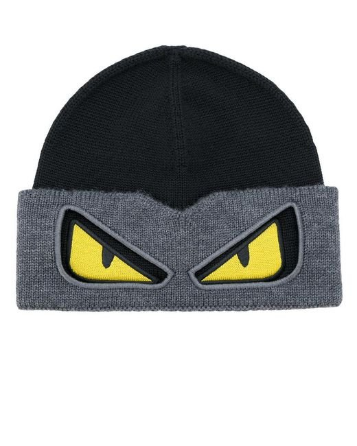 Fendi | Black Bag Bugs Beanie for Men | Lyst